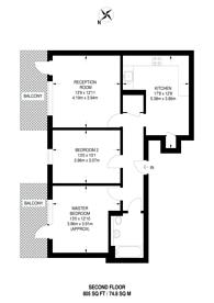 Large floorplan for Dance Square, Clerkenwell, EC1V
