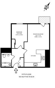 Large floorplan for Longfield Avenue, Ealing, W5