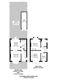 Large floorplan for Grove Way, Wembley Park, HA9