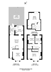 Large floorplan for Cavendish Road, SW19, Colliers Wood, SW19