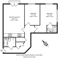 Large floorplan for Balmes Road, Hoxton, N1
