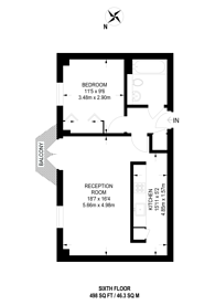 Large floorplan for Seacon Tower, Docklands, E14