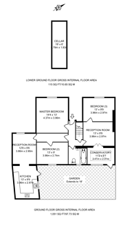 Large floorplan for Wandsworth Road, Stockwell, SW8