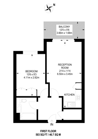 Large floorplan for Kilburn Park Road, Maida Hill, NW6