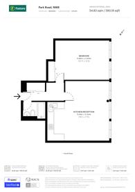 Large floorplan for Park Road, Regent's Park, NW8