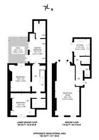 Large floorplan for Lower Belgrave Street, Belgravia, SW1W