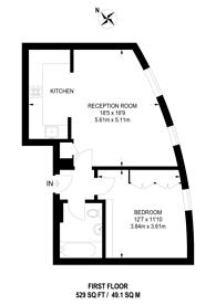 Large floorplan for Amwell Street, Clerkenwell, EC1R