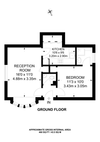 Large floorplan for Barrack Path, St Johns, GU21