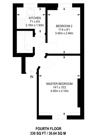 Large floorplan for Clerkenwell Road, Farringdon, EC1R