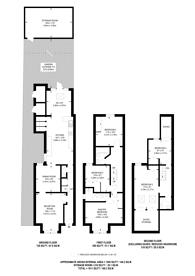 Large floorplan for Kingsley Avenue, Ealing, W13