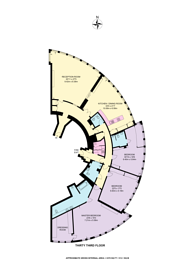 Large floorplan for The Tower, Vauxhall, SW8