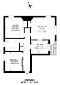 Large floorplan for Greenleaf Close, Brixton, SW2