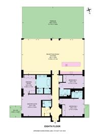 Large floorplan for Fulham Reach, Hammersmith, W6
