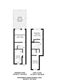 Large floorplan for Talbot Walk, Harlesden, NW10