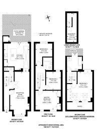 Large floorplan for Allestree Road, Munster Village, SW6