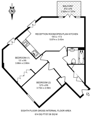 Large floorplan for Hutchings Street, Canary Wharf, E14