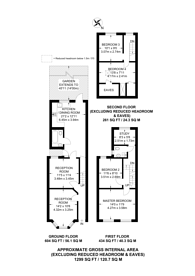 Large floorplan for Russell Road, Walthamstow, E17