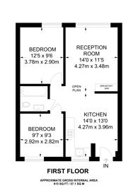 Large floorplan for Angel House, Islington, N1