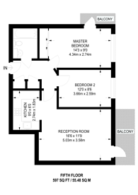 Large floorplan for Victoria Way, Woking, GU21