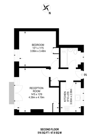 Large floorplan for Wray Crescent, Finsbury Park, N4