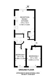 Large floorplan for Shaftesbury Gardens, Acton, NW10