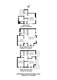 Large floorplan for Parsifal Road, West Hampstead, NW6