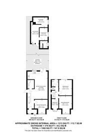 Large floorplan for Priory Gardens, Ealing, W5