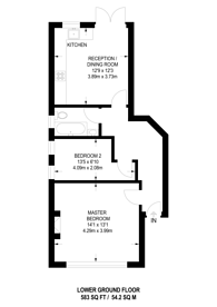 Large floorplan for Seven Sisters Road, Finsbury Park, N4