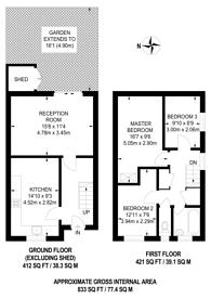 Large floorplan for Dorman Walk, Neasden, NW10