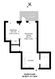 Large floorplan for Longfield Avenue, Ealing, W5