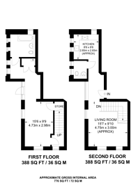 Large floorplan for Marion Court, Clapham North, SW4