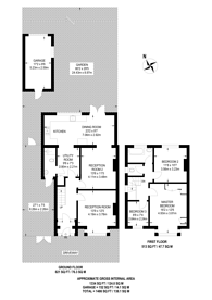 Large floorplan for Warren Drive North, Surbiton, KT5