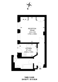 Large floorplan for Hatherley Court, Westbourne Grove, W2