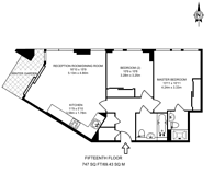 Large floorplan for Surrey Quays Road, Canada Water, SE16