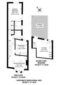 Large floorplan for Kilkie Street, Sands End, SW6