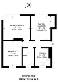 Large floorplan for Sutton Common Road, Sutton Common, SM1