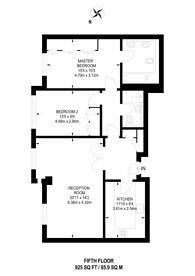 Large floorplan for Barrett Street, Marylebone, W1U