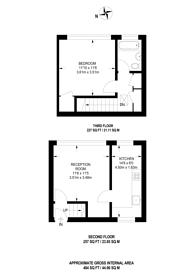 Large floorplan for Upper Hawkwell Walk, Islington, N1