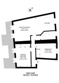 Large floorplan for Oakley Crescent, Angel, EC1V