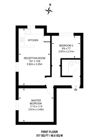 Large floorplan for Duppas Hill Road, Waddon, CR0