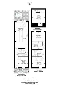 Large floorplan for Orchard Road, Brentford, TW8