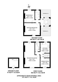 Large floorplan for Richmond Avenue, Barnsbury, N1