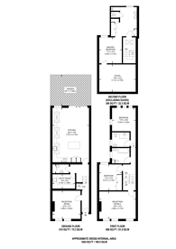 Large floorplan for Stephendale Road, Fulham, SW6