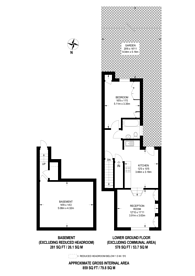 Large floorplan for Racton Road, Fulham Broadway, SW6
