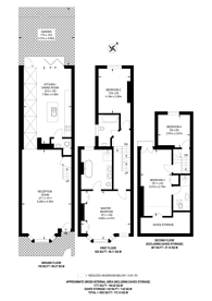 Large floorplan for Priory Park Road, Brondesbury, NW6