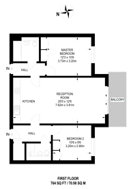 Large floorplan for Kilburn Park Road, Queen's Park, NW6