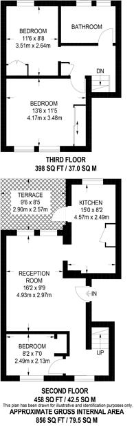 Large floorplan for Walham Green Court, Fulham Broadway, SW6