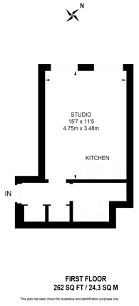 Large floorplan for Nevern Place, Earls Court, SW5
