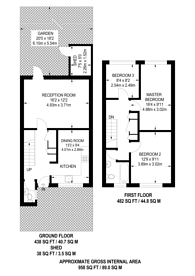 Large floorplan for Celandine Close, Poplar, E14