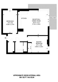 Large floorplan for Pegler Square, Kidbrooke, SE3